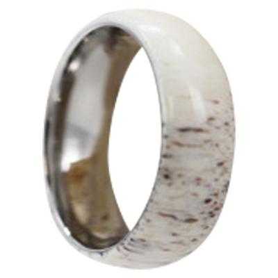 Mens Antler Wedding Rings