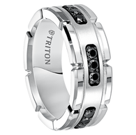 M252hc With Black Diamonds And White Tungsten Carbide One Of The More Por Alternative Metal Bands For Men Women
