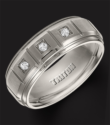 Mens Wedding Bands, Since 2003. Triton 22 3304t G 350x400 Charcoal